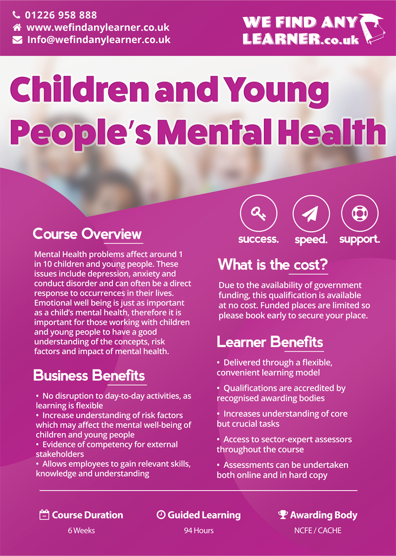 support children and young peoples health 2016-1-27 this paper are informed by ten years of mental health foundation work on children and young people's mental health,  describing the support which children.